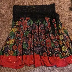 Desigual fit and flare mini skirt
